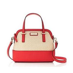 NWT Kate Spade Cedar Street Straw Small Maise Bag